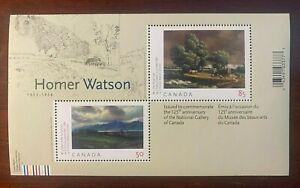 Canada #2110i, $1.35 Homer Watson Souvenir Sheet, Missing vertical perfs.