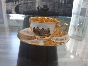 Vintage J. Kronester Schwarzenegger Cup Demitasse and Saucer, Bavaria, Germany.