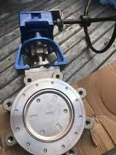 """8"""" Jamesbury SS Lug Butterfly Valve #150 815L113600XZ EXTREME SEAT Gear Op"""