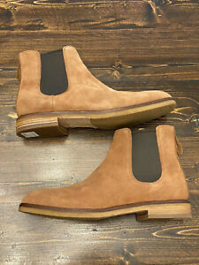 Clarks Clarkdale Gobi Chelsea Boot, Dark Tan Suede, Men's Size 11, Brand New