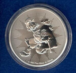 2018 New Zealand Mint $2 Niue Disney Scrooge McDuck 1 oz Silver Coin