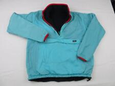 Vintage PATAGONIA Mens Blue Glissade Shell Reversible Fleece Jacket Size Small