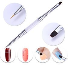 Dual-ended Liner Pen UV Brush Nail Edge Cleaner Rhinestone Handle Nail Art Tools
