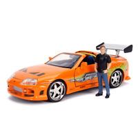 Jada Toys 30738 Brians Toyota Supra & Figure Fast & Furious 1:24 Scale