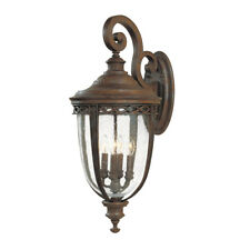 Feiss English Bridle 4lt X Large Wall Lantern British Bronze 4 x 60W E14 220-240