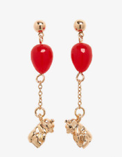 DISNEY OFFICIAL POOH BEAR WITH RED BALLOON 2018 MOVIE PIERCED DANGLE EARRINGS