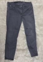 J.Crew Womens 32 Gray Skinny Jeans Cropped Ankle Toothpick Stretch 32x27 Casual