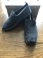 Toms Deconstructed Alpargatas Forged Iron Grey Suede Shoes Size 10