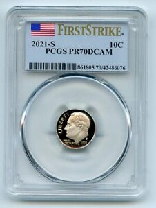 2021 S 10C Clad Roosevelt Dime PCGS PR70DCAM First Strike