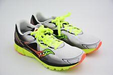 Saucony Men's Kinvara 6 Running shoe, White/Citron/Orange, US 11M USED