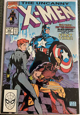 Uncanny X-Men #268 1990, Marvel Captain America Black Widow Wolverine High Grade