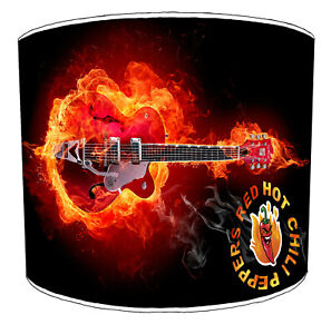 Red Hot Chilli Peppers Designs Lampshades, Ideal To Match Wall Decals & Stickers