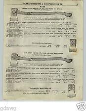 1922 PAPER AD Blue Grass Axe Axes Baltimore Pattern Pride Of Kentucky Dayton