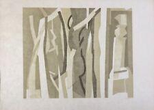 André BEAUDIN 1895-1979.Bois noir.1971.Lithographie/japon.EA.SBD.36x46.