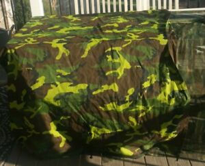 Camo Fort Sheet with elastic loops Lot Fabric Pieces Play Forts Kids Mesh 4x6 ft