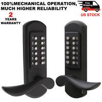 Digital Keyless Door Lock Keypad Mechanical Left/Right Handle Security Antitheft