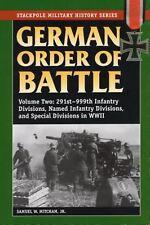German Order of Battle, Volume 2: 291st-999th Infantry Divisions, Named Infantry