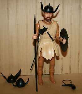 Vintage Original Marx ODIN THE VIKING CHIEFTAIN Figure w/ Weapons & Gear