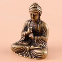 Small Tibet Healing Medicine Buddha Statue Brass Buddhism Shakyamuni Figurine