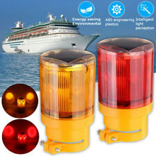 Flashing Safety Beacon Marine Beacon Solar Powered Red Marker Beacon NEW S50290
