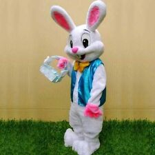 2016 New Easter Bunny Mascot Costume Rabbit Cartoon Fancy unisex Adult Dress New