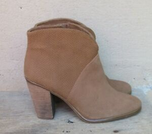 Vince Camuto Brown Suede Franell Western Bootie   Size 7 M