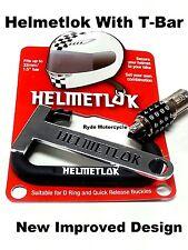 Newest Helmetlok Combo Helmet Lock w T Bar Locks All Helmets to Any Motorcycle
