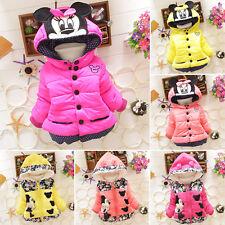 Jungen Mädchen Kinder Kapuze Winterjacke Fleecejacke Mantel Hoody Schneeanzug