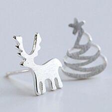 Christmas tree deer earrings jewellery silver 925 diva gift christmas stocking