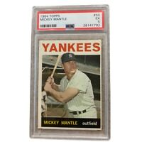 1964 Topps #50 Mickey Mantle New York Yankees HOF PSA 5 EX Vintage Baseball