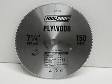 "7 1/4"" steel 150 teeth Circular Saw Plywood Blade ; 5/8"" hole ; Brand NEW unused"