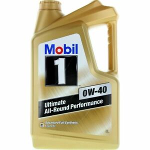 Mobil 1 Full Synthetic 0W-40 Engine Oil 5L