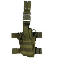 Lancer Tactical Universal Right Handed Drop Leg Pistol Holster OD Green CA-322G