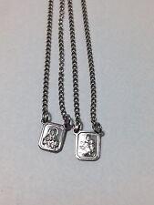 Stainless Steel Escapulario Mini Religious Pendant Protection