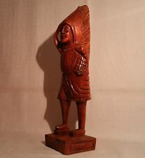 "12"" counter top display cigar store indian tobacco vtg antique wood statue art"