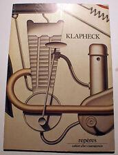 KLAPHECK/PEINTURES ET DESSINS/GALERIE LELONG/REPERES/CAHIERS D'ART/ N°20/1985