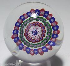 ANTIQUE BACCARAT DUPONT PERIOD CONCENTRIC MILLEFIORI PAPERWEIGHT