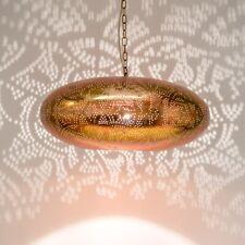 Oriental Vintage Copper Large Ceiling Pendant Lamp Filigree Style - UFO