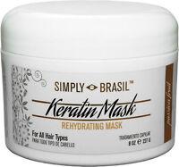 Simply Brasil Rehydrating Keratin Mask, Formaldehyde Free, 8 oz
