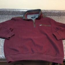 Bugatti Mens Size Small Wool Blend Elbow Patches 1 4 Zip Sweater Burgundy 4882106f01
