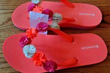 9f1169a3e NEW Girl JCrew Crewcuts Flower Sandals Flip Flops Size Toddler 10T 10 Summer