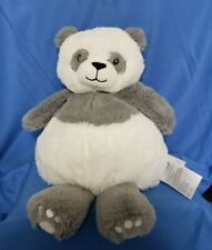 "Little Miracles 14"" Panda Stuffed Plush White Gray Costco Baby Lovey Toy"