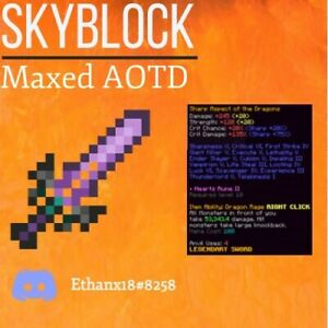 Hypixel Skyblock Maxed AOTD Sword Cheapest on Ebay