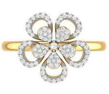 Christmas 1.60ct Natural Round Diamond 14K Solid Yellow Gold Ring Size 7