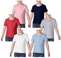 GILDAN Childrens Kids Toddler Heavy Cotton T-Shirts T Shirt Tshirt Tee 6 Colours
