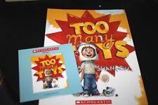 Too Many Toys Book Lot CD Story Read Along Scholastic Teacher Classroom   -FFFF