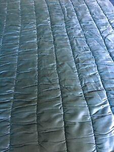 Laura Ashley Luxury Velvet Quilt, Duck Egg. 200cm x 200cm. Immaculate Condition