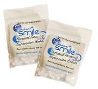 2 Pack Billy Bob Replacement Thermal Adhesive Fitting Beads for Fake Teeth