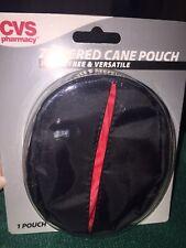 CVS walking cane zippered pouch, Black