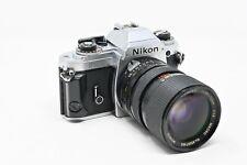 Nikon Fg 35mm Slr Film Camera with Access 35-70mm Lens + Batteries (#B3)